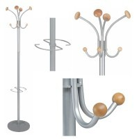 Coat stand with 4 pegs, umbrella holder and weghted base with water retainer, VIENA range from Alba